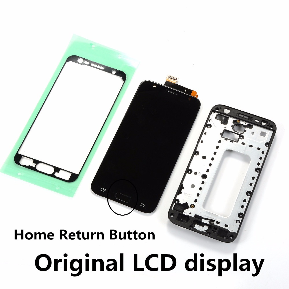 Original J3 PRO LCD Touch Screen for <font><b>Samsung</b></font> Galaxy J3 2017 J330 J330F <font><b>J330FN</b></font> LCD Display+Home Button+Front Frame Cover+Adhesive image
