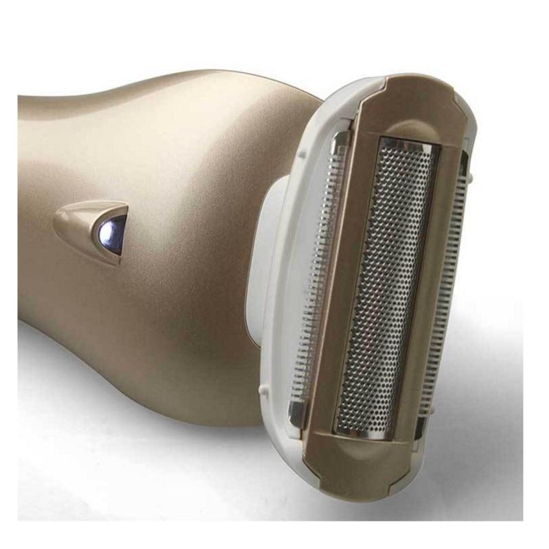 Леди салон триммер для бритья эпиляция аккумуляторная бритва для женщина женщина плавающей 3 в 1 лезвия моющийся тела riwa