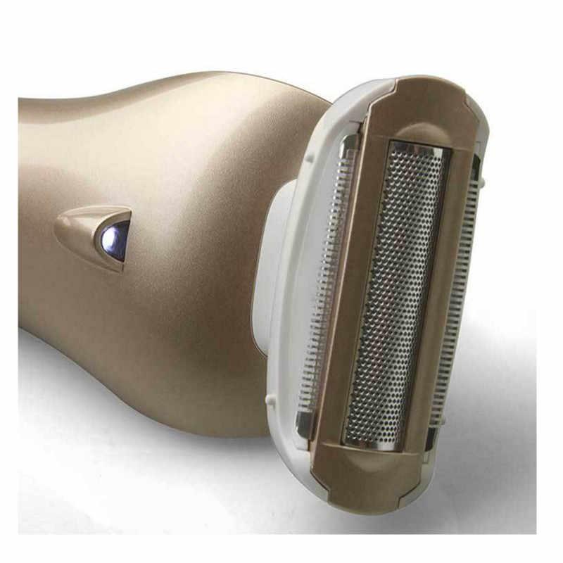 Della signora rasoio Bellezza trimmer rasatura Dei Capelli di Rimozione Ricaricabile Epilator rasoio per la donna femminile 3 in 1 lama lavabile Riwa