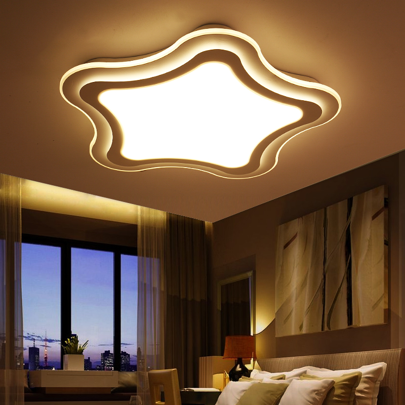 New Ultra thin modern LED ceiling lights Simple bedroom living room children's room acrylic creativity five-pointed star lamps modern minimalist ceiling lamps led lamps lighting acrylic stars children s room warm ultra thin bedroom lamp
