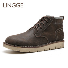 LINGGE Brand Ankle Lace-Up Men