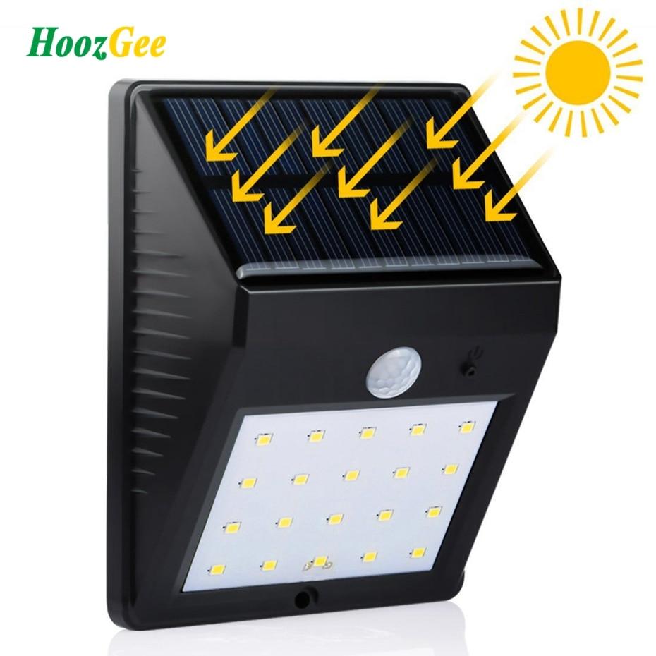 HoozGee солнечный свет стены открытый 8/20 <font><b>LED</b></font> движения PIR Сенсор лампы Сад Патио двор Освещение Водонепроницаемый