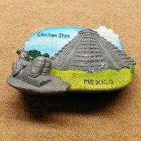 Maya Civilization Mexican Pyramid Creative 3d Stereo Resin Refrigerator
