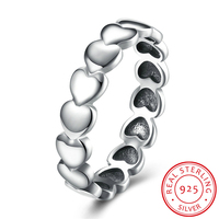 HERMOSA Authentic 925 100 Solid Sterling Silver Forever Love Heart Finger Ring Original Jewelry Valentine S