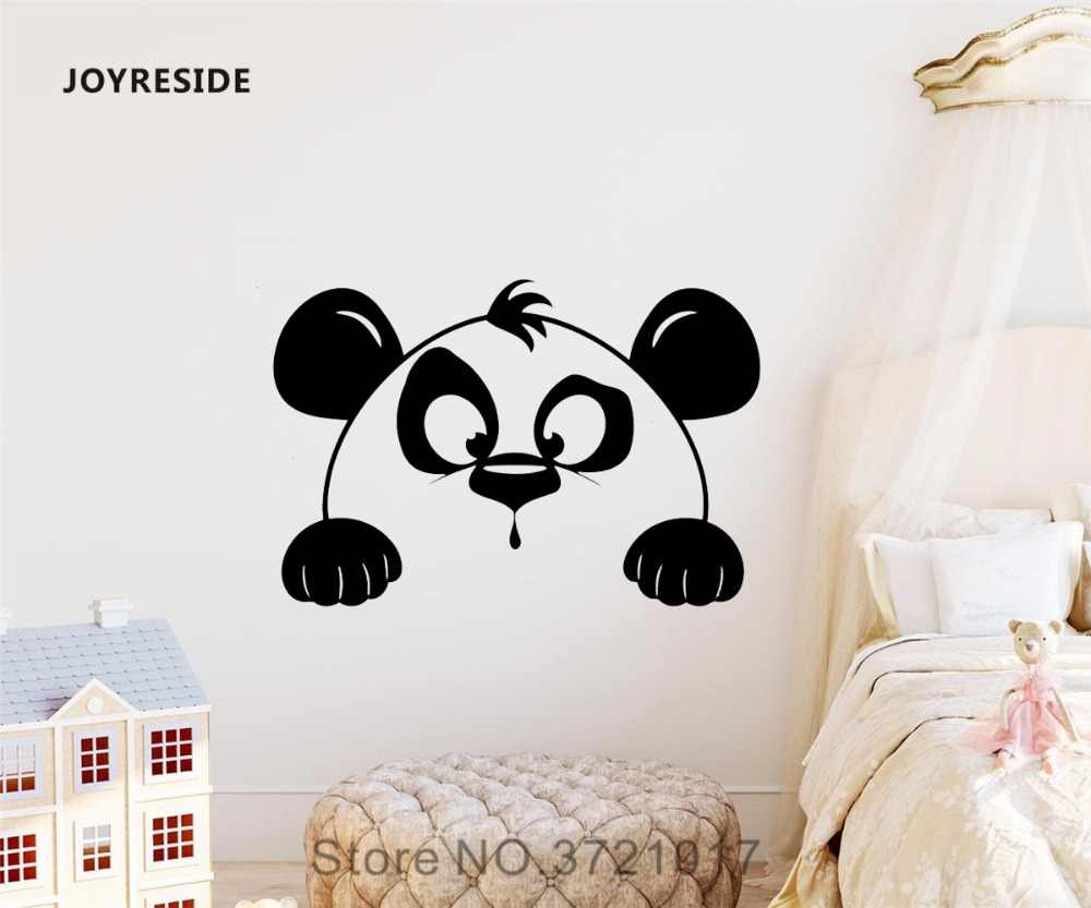 Joyreside Animal Wall Cute Panda Decal Vinyl Sticker Design Decor Living Room Baby Girl Boy Room Bedroom Decorations Mural A424 Wall Stickers Aliexpress