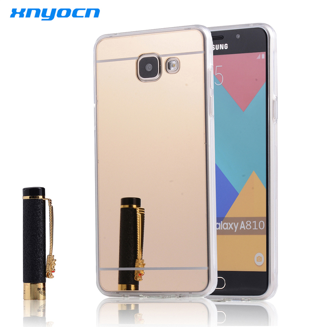 purchase cheap 0ce55 cc2cf US $2.59 |Clear Mirror PC Soft TPU Case for Samsung Galaxy A8 A8000 A7  A7000 A5 A5000 Grand Prime G530 G530H G530F G5308W G531H Gold Cover-in ...