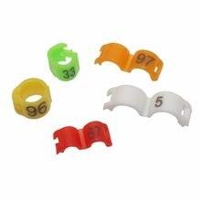 Anel de pássaro NO.1-100 colorido, anel de papagaio, pés, 2.7mm 3mm 4mm, 4.5mm, 5mm, ferramenta de identificação suprimentos para aves de acácia canária