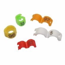 Colorful NO.1-100 Bird clip ring Parrot foot ring 2.7mm 3mm 4mm 4.5mm 5mm Identification tool Canary Acacia birds Supplies