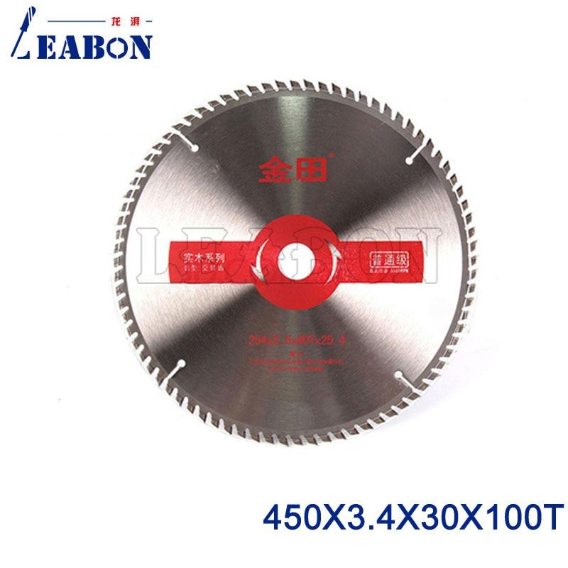 LEABON lame de scie tct 450mm Lame de Scie Circulaire pour le Bois scie circulaire Outils À Bois 450x3.4x30x100 T