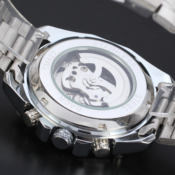 2019 Winner Luminous Brand Steel Men Automatic Mechanical Watch Skeleton Military Relogio Male Montre men watches Relojes hombre Pakistan