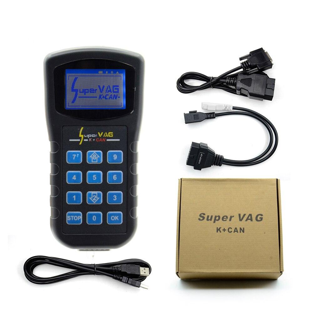 Цена за Супер VAG K + может V4.8 Супер VAG K может 4.8 Пробег Исправление инструмент airbag reset инструмент Ключевые программист для Audi VW Skoda VAG K может