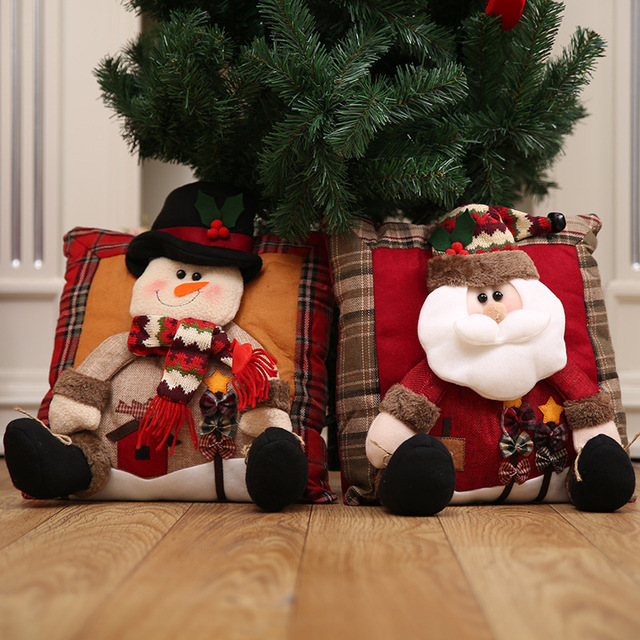 Christmas Gift Cushions Snowman Home Decor Sofa Seat Cushion Decorations For New Year