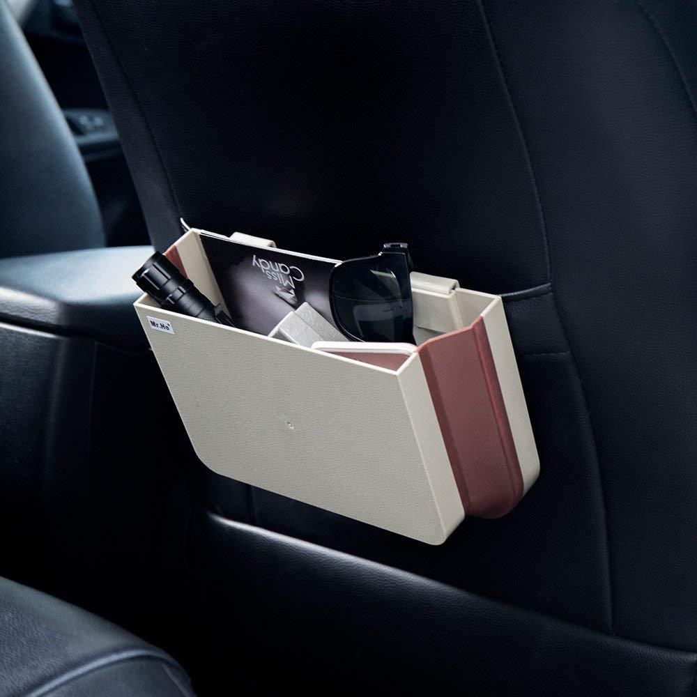 Voiture suspendus ABS siège arrière boîte de rangement pliable TED rebond matériel chargeurs téléphones cartes lunettes sac à ordures pour universel Auto