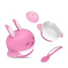 4 pcs Children's Dinnerware Baby Sets Cutlery Baby Feeding Set Eating Set
