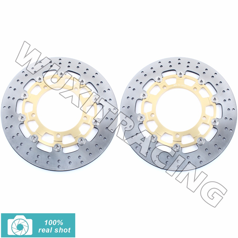 Front Brake Discs Rotors for GSF 650 1200 1250 Bandit S ABS 05-14 GSX 650 1250 1300 B-KING F FA ABS ST 08-16 GSXR 1300 HAYABUSA front brake discs rotors for moto guzzi breva 850 1100 1200 05 09 griso 850 1100 1200 05 16 norge 850 1200 06 07 sport 1100 1200