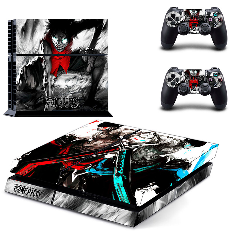 HOMEREALLY Stickers PS4 Skin Anime One Piece Sticker for Sony Playstation 4 Controller and Console Skin PS4 Accessory-in Stickers from Consumer Electronics