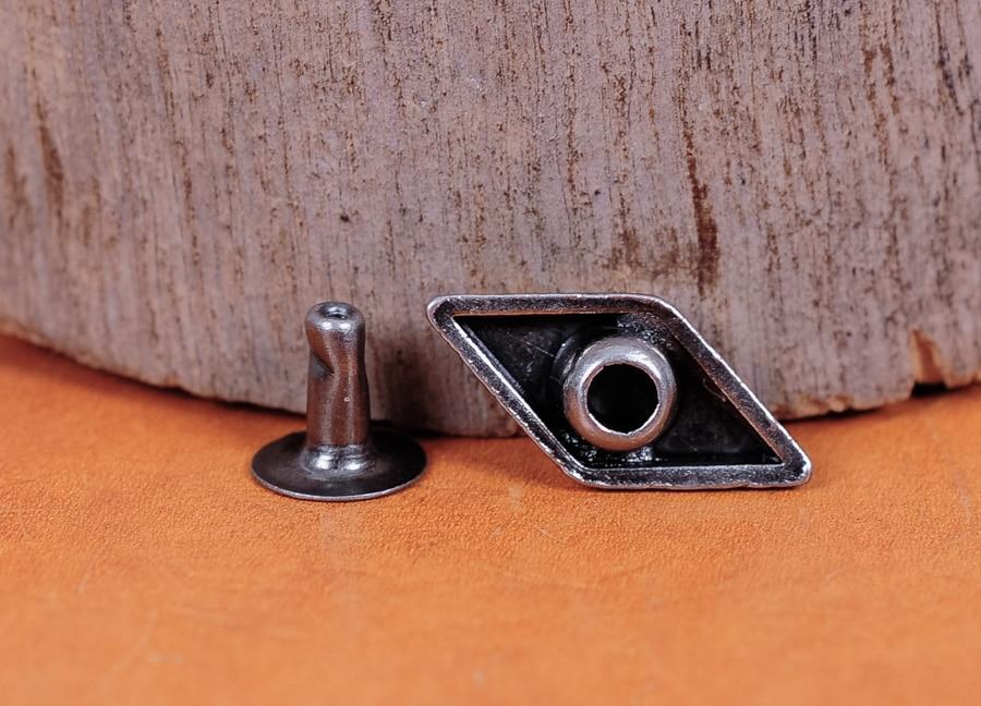 50X 15*8 Metal Diamond Rivets Stud Spikes Spots For Shoes Bags Belts Bracelets