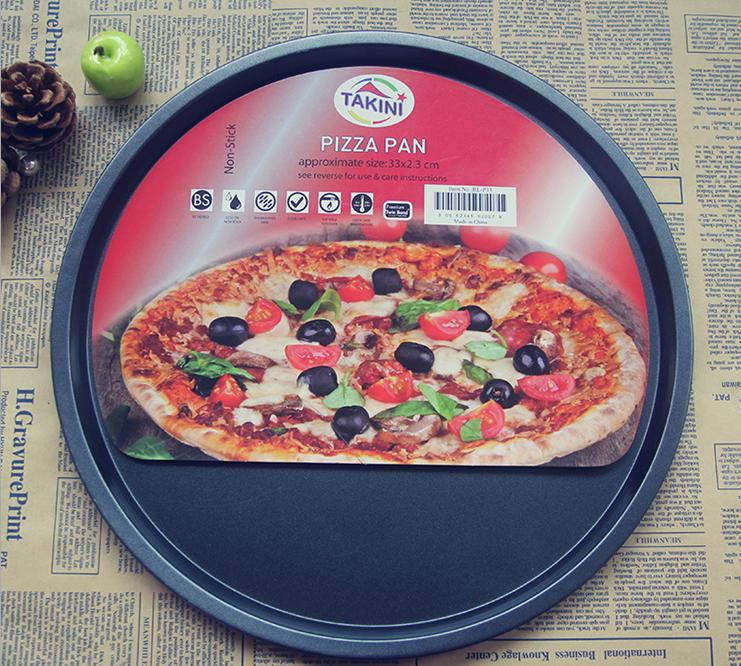 13 Inch Pizza Platter Non Stick Carbon Steel Pan Baking Mould Metal