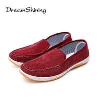 DreamShining Men Shoes Spring Summer Breathable Fashion Flat Shoes Lace Up Canvas Loafers Comfortable Mocassins