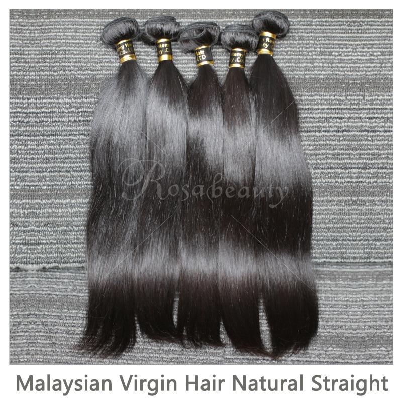 Rosabeauty 10a cabelo reto indiano tecer pacotes 6-30 28 polegada pacotes 100% tramas de cabelo humano não processado extensões de cabelo virgem
