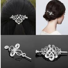 Fashion Celtics Knots Viking Runes Crown Hairpins Hair Clips Stick Slide Accessories for Women Cetilcs Hair Jewelry(China)