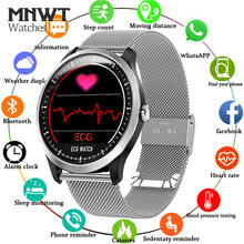 MNWT Men Smartwatch ECG PPG Electrocardiograph Display Heart Rate Monitor Blood Pressure Fitness Tracker Smart Sports Watch +Box(China)