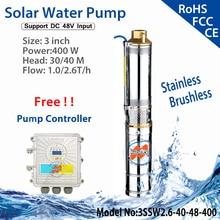 Солнечный погружной водяной насос bomba список 48 вольт DC водяной насос