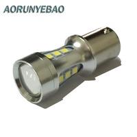 AORUNYEBAO 10pcs 1156 LED BA15S P21W S25 18 led 3030 Chips 6000K White Red Yellow Brake Lights Reverse Lamp DRL Car Tail Bulb