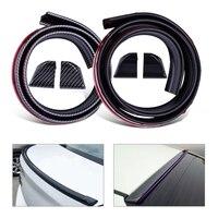 CITALL 4.9ft PU DIY Car Universal Carbon Fiber Soft Rubber Sticker Trunk Spoiler Rear Roof Wing Lip Trim Sticker with End Cap