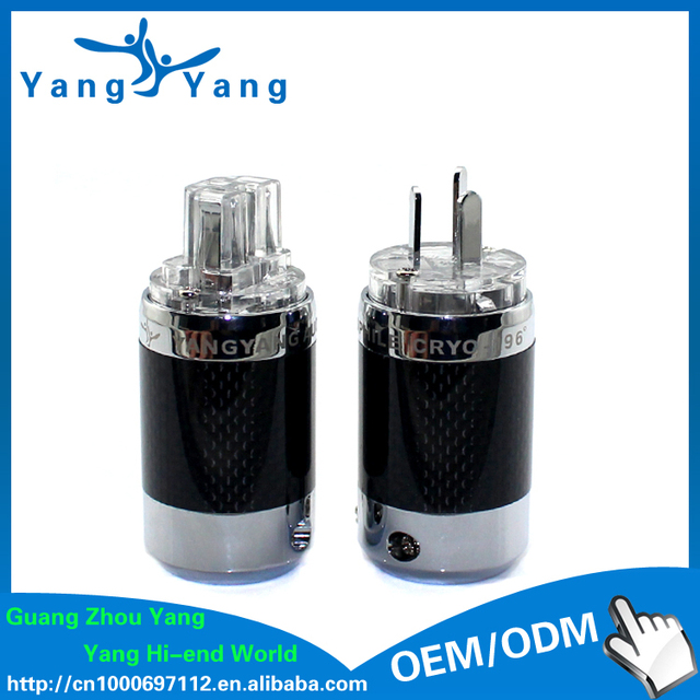 YangYang hifi carbon fiber rhodium plated AS power plug