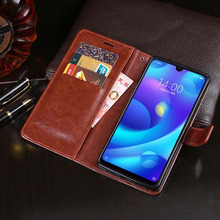Business PU Leather Case For Xiaomi Mi Play Flip Cover Phone Cute Shell