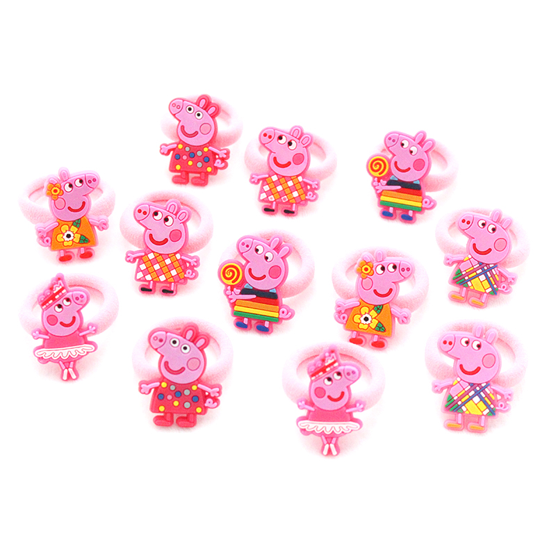 12 PCS/ set Fashion Kids  Elastic Hair Bands Rubber Headbands Soft Fabric Cartoon Girls Headwear Children Hair accessories jrfsd 7pcs set new fashion girls hair clip cartoon images hair bands princess mini dress hairgrip kids hair accessories