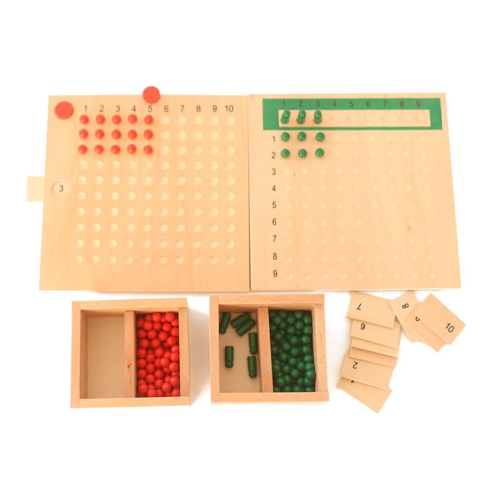 Montessori Math Multiplication Bead Board Learning Educational Preschool Early Childhood Sensorial Educativo Toys abacus B2186T
