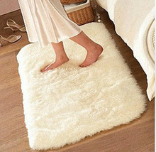 Luxury Rectangle Sheepskin Hairy Carpet Faux Mat Seat Pad Fur Plain Fluffy Soft Area Rug Tapetes