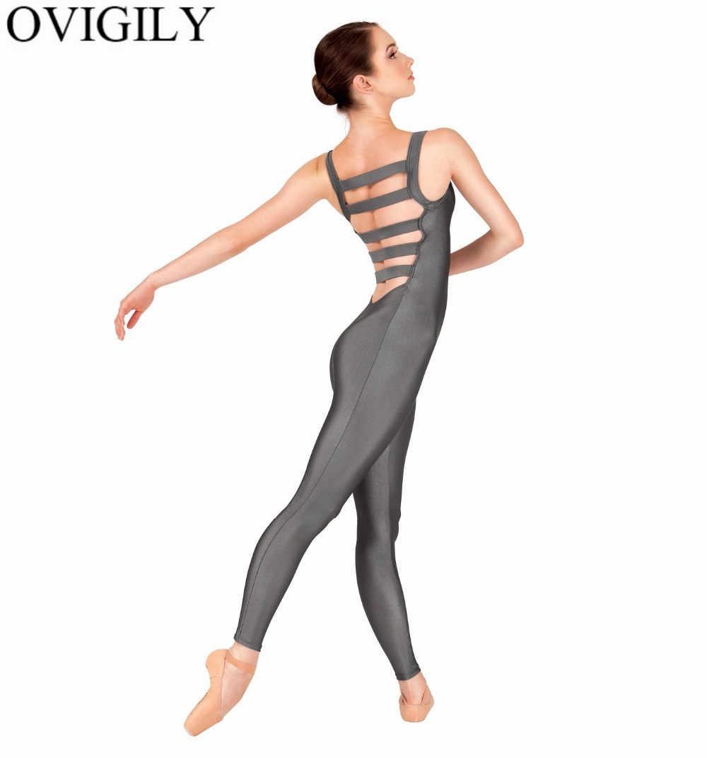 a4769176cc Detail Feedback Questions about OVIGILY Womens Tank Unitards Elastic Ladder  Back Adult Lycra Spandex Sleeveless Full Length Dance Unitard Teams  Performance ...