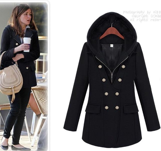 Womens black winter coat sale