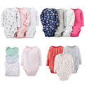 New Bodysuits For Baby Girls Long Sleeve 1pcs Body Infant Bebe Girl Flowers Spring Fall Brand Clothing free shipping