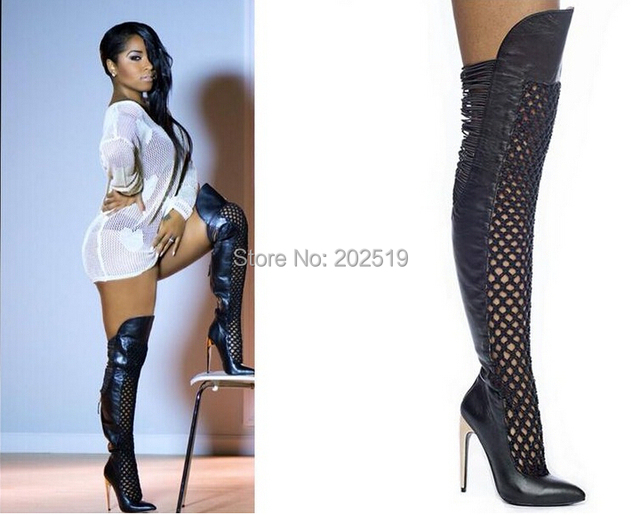 Online Shop New Arrival 2014 Toya Wright Wearing Over-The-Knee ...