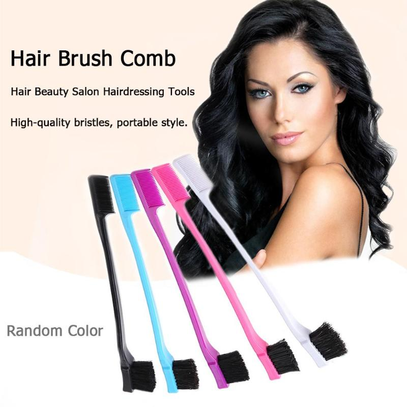 Double Sided Edge Hair Comb Portable Hot Selling Durable Simple Comfortable Personality Hair Coloring Makeup Brushes