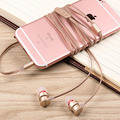 Original  In Ear Earphone 3.5MM Stereo aluminum alloy Earphone Noise Reduction Line Control In Ear Headset