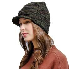 8d697bb0db8 Fashion Brand Men Women Wool Knitted Hat beanie Skullies Winter Warm Brim  Outside Ear Protector Knit Ski Beanies Cap bonnet