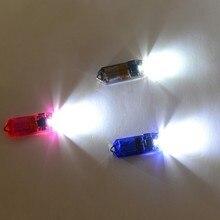 5 цветов открытый мини USB светодиодный брелок для кемпинга фонарик перезаряжаемый брелок для ключей лампа факел