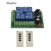 Sleeplion 12 В 4ch реле на/off Беспроводной Дистанционное управление светодиодные лампы коммутатора трансивера 315/433 МГц