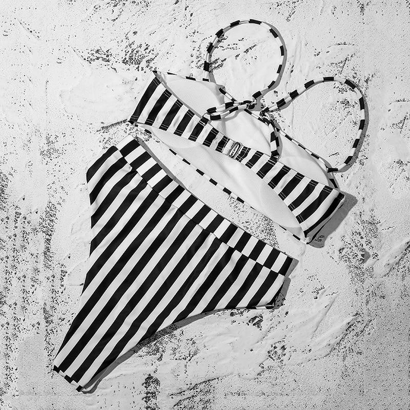 ZTVitality Sexy Bikinis Solid Push Up Bikini 2019 Hot Sale Padded Bra Straps High Waist Swimsuit Swimwear Women Print Biquini XL