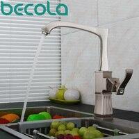 Becola New Design Brushed Nickel Kitchen Faucet Deck Mounted Black Antique Brass Kitchen Sink Mixer Tap