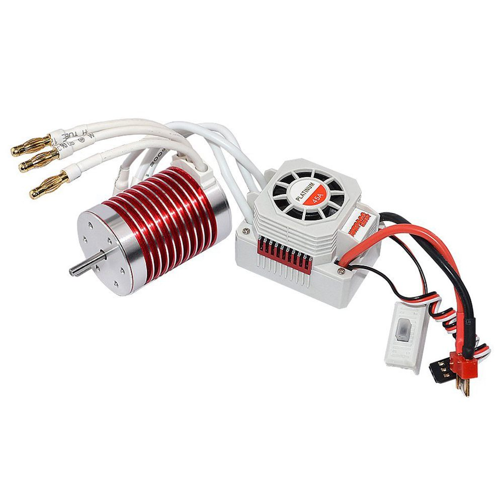 SURPASS HOBBY Set Waterproof F540 3930KV Brushless Motor with 45A ESC for 1/10 1/12 RC Car Truck waterproof 60a esc f540 10t 3930kv brushless motor fits for 1 10 drift rc car racing bm88