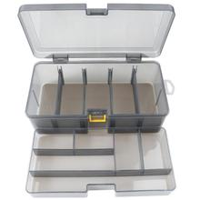 Hot Sale Plastic Dual Layer Waterproof Fishing Tackle Box Lu