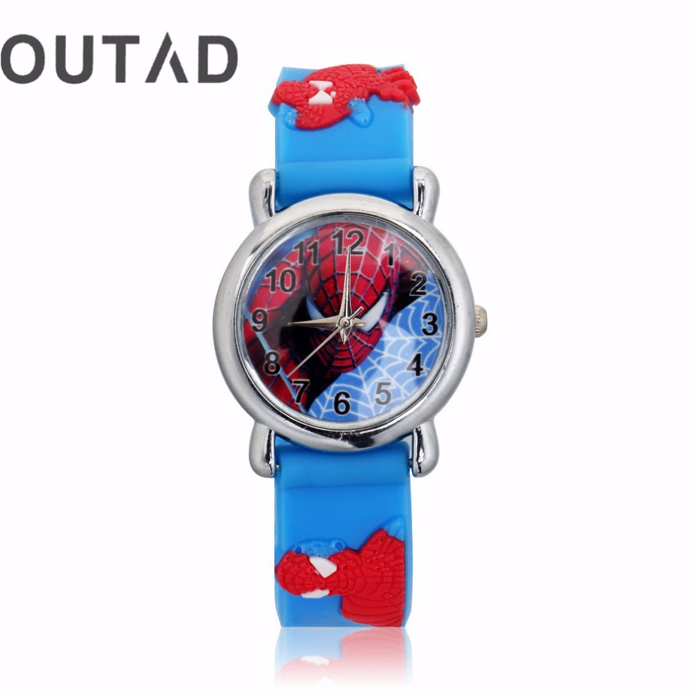 OUTAD Cool Children Watch 1Pcs Dark Blue Wrist Watch 3D Cartoon Silicone Childrens Boys Watches Sports Cool Quartz Casual