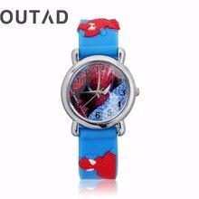 OUTAD Cool Children Watch 1Pcs Dark Blue Wrist Watch 3D Cart