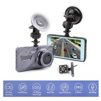 New 4 inch IPS Screen Dash Cam Dual Lens Car DVR HD 1080P Front+Rear View Camera Night Vision Video Recorder Parking Monitor